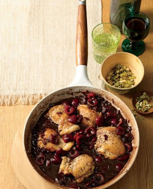 Pan-Seared Chicken Thighs with Balsamic-Cherry Sauce