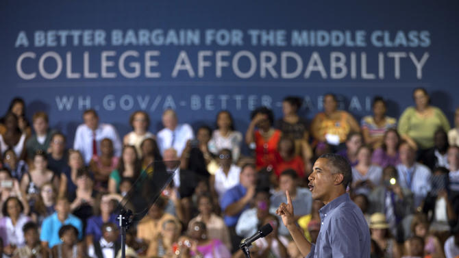 What does Obama want to do with college costs?