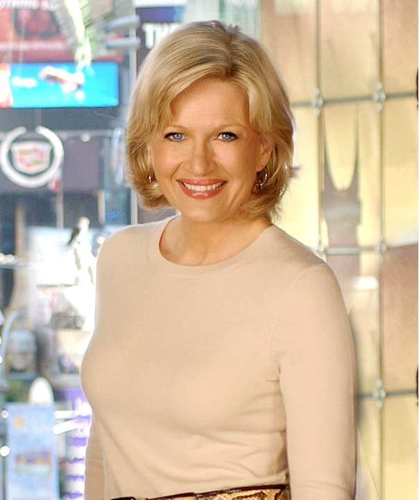 Diane Sawyer, reporter for Good Morning America on ABC.