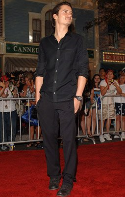 Orlando Bloom at the Disneyland premiere of Walt Disney Pictures' Pirates of the Caribbean: Dead Man's Chest