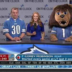 Detroit Lions pick offensive tackle Corey Robinson No. 240 in 2015 NFL Draft