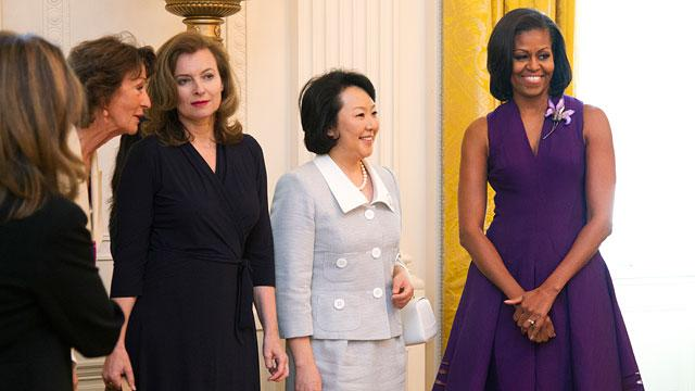 Ladies Who Lunch: First Lady Hosts G-8 Spouses at the White House