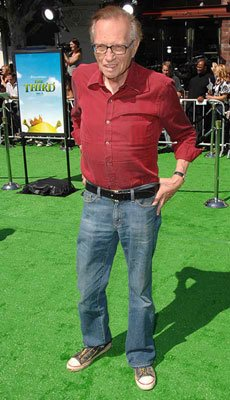 Larry King at the Los Angeles premiere of DreamWorks' Shrek the Third
