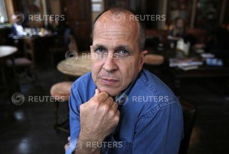 Australian broadcast journalist, Peter Greste, recently freed from prison in Egypt, poses for a portrait before giving a press conference at the Frontline club, London