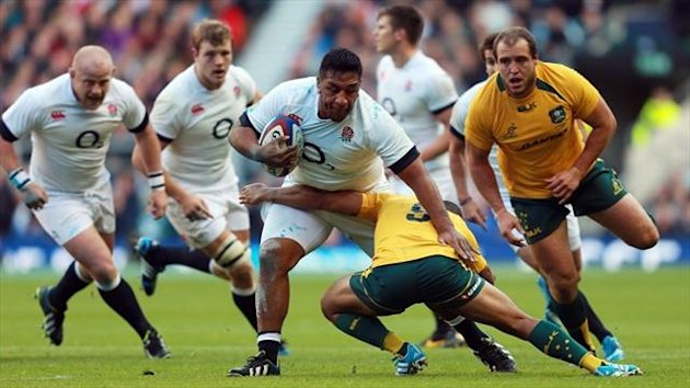 Mako Vunipola, centre, is 'struggling with a ligament strain to his knee'