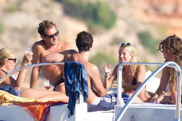 Jude Law Sienna Miller Ibiza