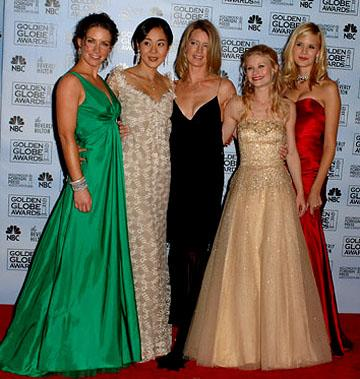 "Evangeline Lilly, Yunjin Kim, Cynthia Watros, Emilie de Ravin and Maggie Grace Best Drama Series - ""Lost"" 63rd Annual Golden Globe Awards - Press Room Beverly Hills, CA - 1/16/06"