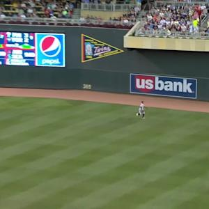 Polanco's running catch