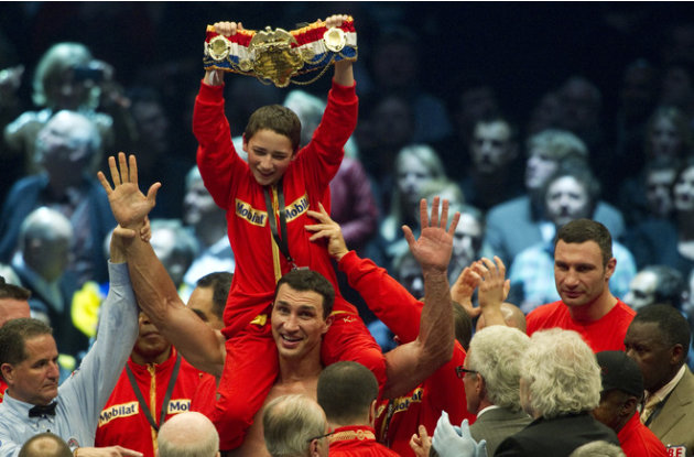 Ukrainian Heavyweight Boxing World Champion Wladimir Klitschko Fights AFP/Getty Images