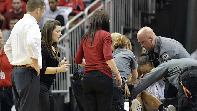 No. 7 Louisville women lose G Slaughter for season