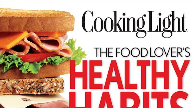 """This undated publicity photo provided by Oxmoor House shows the cover of Cooking Light's book """"The Food Lover's Healthy Habits Cookbook."""" (AP Photo/Oxmoor House)"""