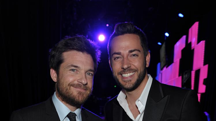 Actors Jason Bateman, left, and Zachary Levi pose backstage at the 21st Annual 'A Night at Sardi's' to benefit the Alzheimer's Association at the Beverly Hilton Hotel on March 20, 2013 in Beverly Hills, Calif. (Photo by John Shearer/Invision for Alzheimer's Association/AP Images)