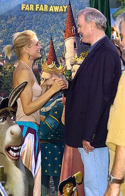 Premiere: Cameron Diaz and John Cleese at the L.A. premiere of Dreamworks' Shrek 2 - 5/8/2004