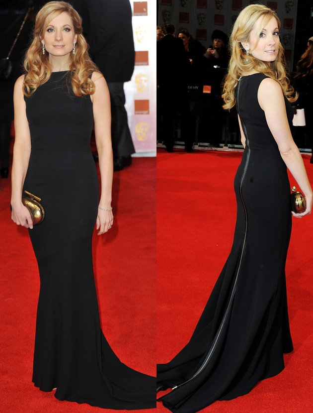 joanne-foggart-bafta-black-dress