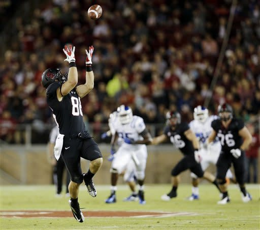 No. 25 Stanford steamrolls Duke, 50-13