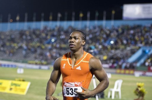 Yohan Blake on Friday became the fourth-fastest man ever in 100m as he ran a personal best in 9.75sec