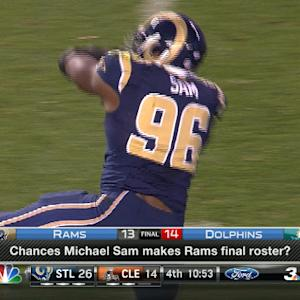 Will St. Louis Rams defensive end Michael Sam make Rams roster?