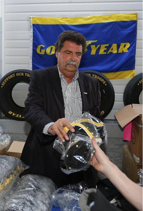 "Michael Helton, President of NASCAR is seen at the Charlotte Motor Speedway as Goodyear Kicks off the 4th Annual ""Goodyear Gives Back"" Program, on Thursday, May 23, 2013 in Concord, N.C. (Photo by Chr"
