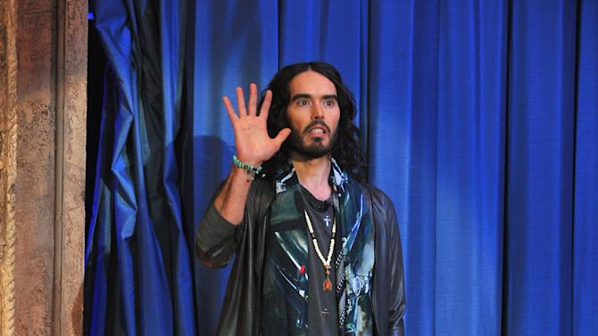 """Russell Brand Visits """"Late Night With Jimmy Fallon"""""""