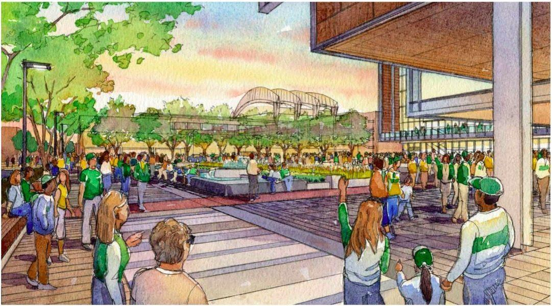 SoDo Arena: Latest Seattle Arena Designs Include Pedestrian & Bike Bridge