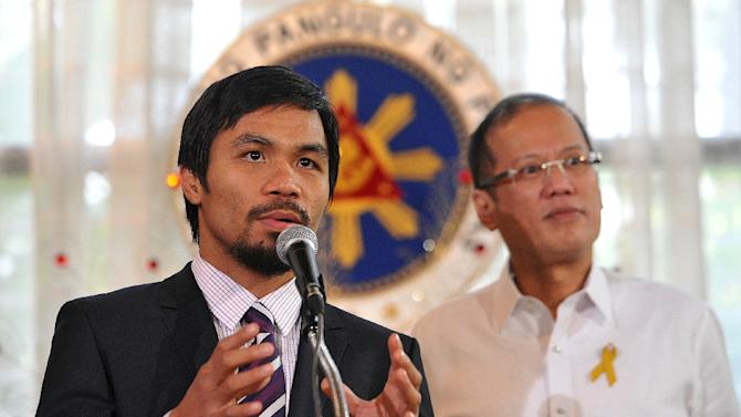 Philippine boxing hero and congressman Manny Pacquiao has announced his bid for a senate seat in national elections to be held in May next year