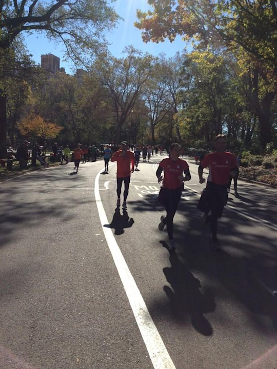 An endless line of runners #unofficial #nycmarathon