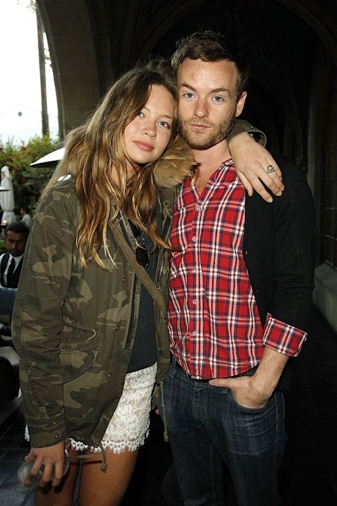 Chris Masterson seen here with actress Daveigh Chase of 'Big Love' in 2011. (Photo by Donato Sardella/ GettyImages)