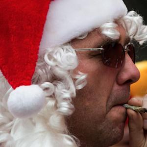 Prudes Make Weed Dispensary Take Down Smoking Santa Mural