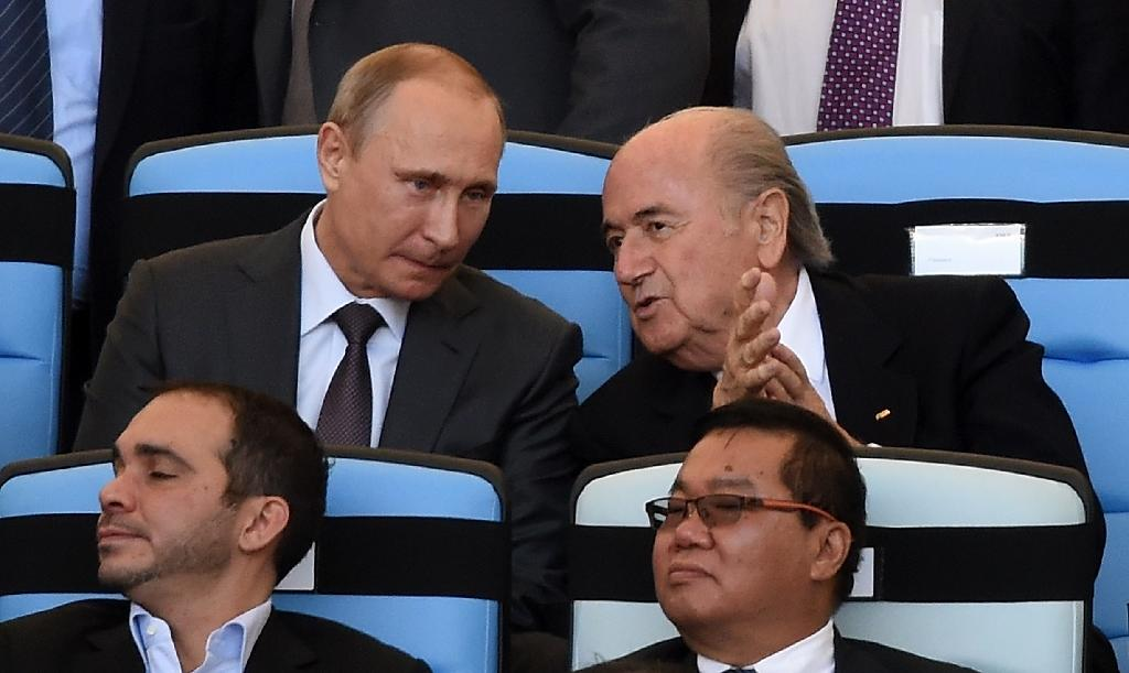 Putin hails Blatter 'professionalism' after FIFA re-election