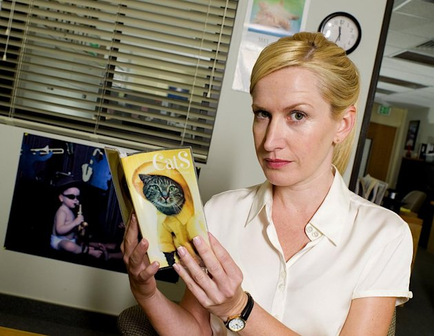 Angela Kinsey stars as Angela on NBC's The Office.