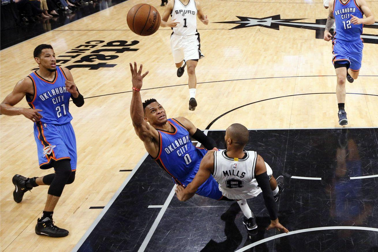 A final look back at Thunder-Spurs Game 2, where rules didn't apply