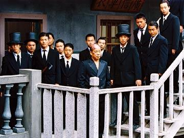 Leung Siu Lung (center) in Sony Pictures Classics' Kung Fu Hustle