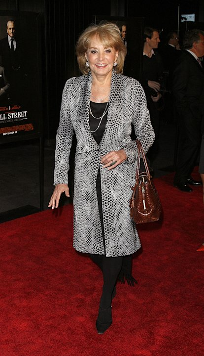 Wall Street: Money Never Sleeps NYC Premiere 2010 Barbara Walters