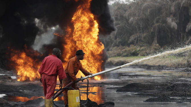 Burning pipeline fire sign of Nigeria's woes