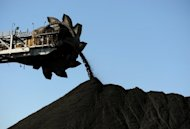 This photo taken on April 25, 2012 shows coal being stockpiled at the coal port of Newcastle in Australia&#39;s New South Wales state. Australian mining magnate Nathan Tinkler has pulled out of a Aus$5.3 billion (US$5.5 billion) takeover bid for Whitehaven Coal, the company said Friday