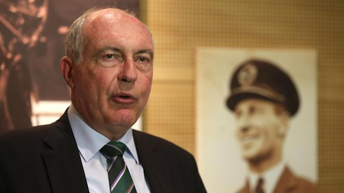 Australian Deputy Prime Minister Warren Truss makes comments at Sydney Airport in Sydney, Thursday, July 30, 2015, about the aircraft debris that was found on the French island of Reunion. If the part is from Flight 370, it would be the first debris found from the vanished airliner. (AP Photo/Rick Rycroft)