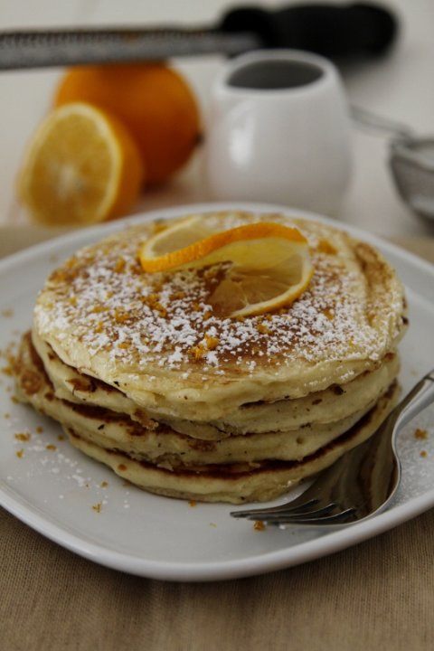 Meyer Lemon Pancakes