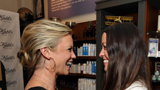 IMAGE DISTRIBUTED FOR KIEHL'S - Actress Amy Smart, left, and musician Alanis Morissette attend Kiehl's Earth Day Celebration at Kiehl's on Wednesday, April  17, 2013, in Santa Monica, Calif. (Photo by John Shearer/Invision for Kiehl's/AP Images)
