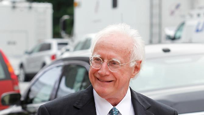 Former John Edwards attorney Wade Smith smiles on his way into the federal courthouse where Edwards is standing trial for campaign corruption in Greensboro, N.C., Tuesday, May 15, 2012. (AP Photo/Bob Leverone)