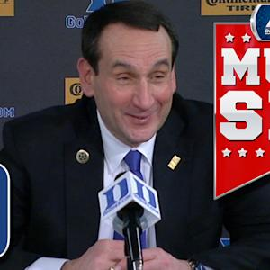 Duke's Coach K Comments on Lack of Gray Hair | ACC Must See Moment