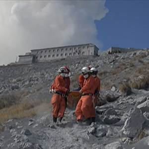 Raw: Japan Volcano Rescue Video Released