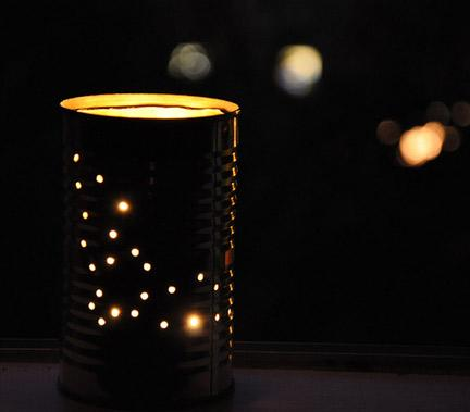 Halloween Tin Can Lanterns