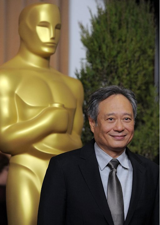 FILE - In this Monday, Feb. 4, 2013 file photo, Ang Lee, nominated for best picture and directing for &quot;Life of Pi,&quot; arrives at the 85th Academy Awards Nominees Luncheon at the Beverly Hilton Hotel, in