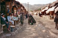 A street market in Afghanistan&#39;s northeastern Badakhshan province. NATO special forces have rescued two foreign women and killed five kidnappers in a &quot;breathtaking&quot; pre-dawn raid on a cave in Afghanistan&#39;s remote and mountainous Badakhshan province