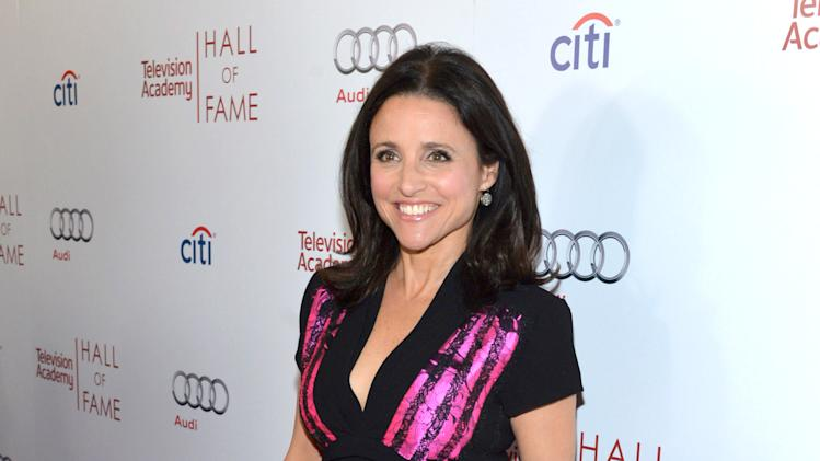 Hall of Fame Inductee Julia Louis-Dreyfus arrives at the 2014 Television Academy Hall of Fame on Tuesday, March 11, 2014, at the Beverly Wilshire in Beverly Hills, Calif. (Photo by John Shearer/Invision for the Television Academy/AP Images)