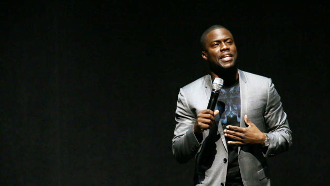 """Kevin Hart, cast member in the upcoming film """"Let Me Explain"""" at Lionsgate Presentation at 2013 CinemaCon, on Thursday, April, 18th, 2013 in Las Vegas. (Photo by Eric Charbonneau/Invision for Lionsgate/AP Images)"""