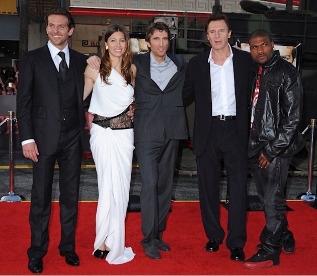 The A Team LA Premiere 2010 Bradley Cooper Jessica Biel Sharlto Copley Liam Neeson Quinton Rampage Jackson