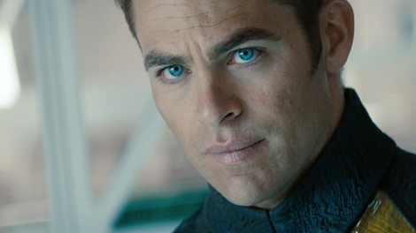 Chris Pine as Captain James T. Kirk