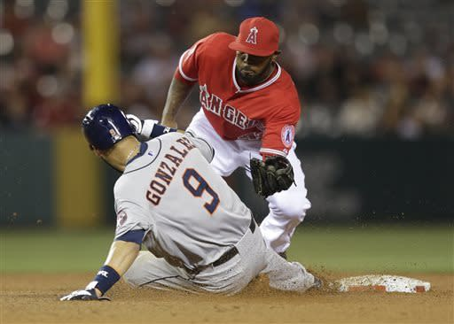Astros win 3rd in row with 5-0 victory over Angels