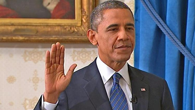 President Barack Obama takes oath of office